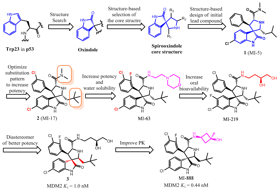 Small Molecule Inhibitors of MDM2-p53 and MDMX-p53 Interactions as New Cancer Therapeutics